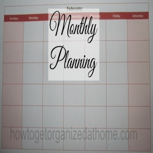 Planning The Month