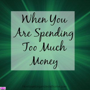 When you are spending too much money on things that you don't need like clothes, food, and other non-essentials, you must stop spending and take action.