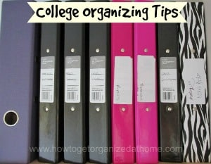 Organizing Tips For College
