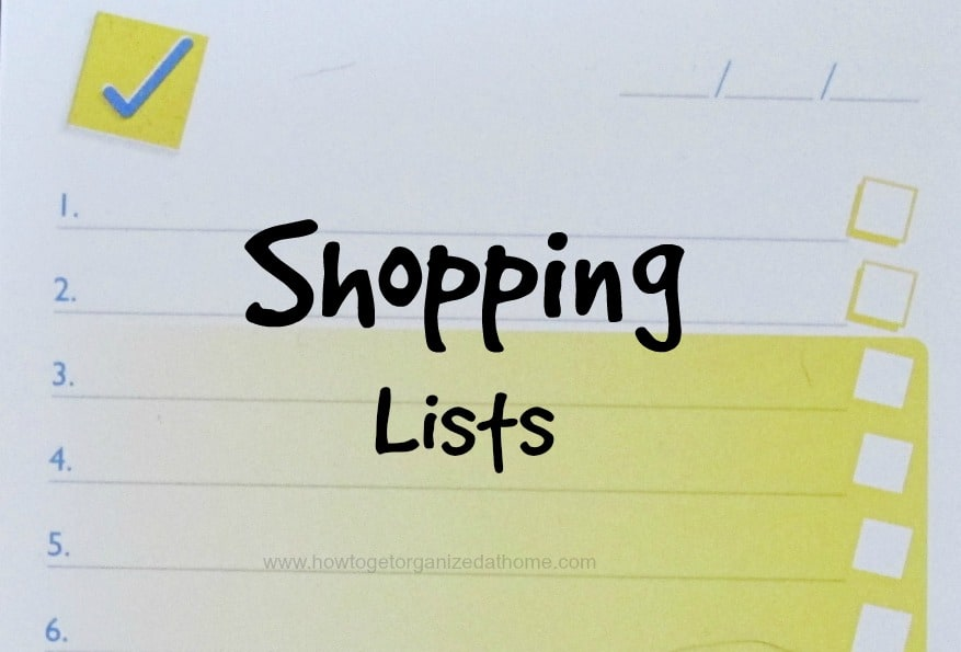 Organizing Your Weekly Shop