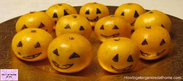Satsuma's to look like miniature pumpkins