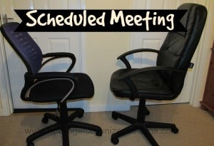 Organize Scheduled Meetings