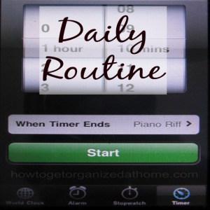 Improve Your Routine