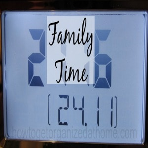 Making Time For Your Family