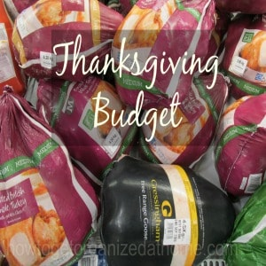 Planning Your Thanksgiving Budget
