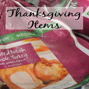 Last Minute Thanksgiving Items