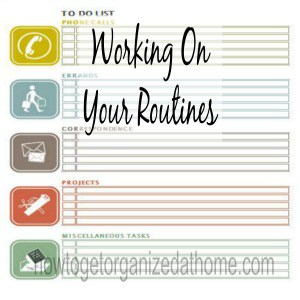 Working On Your Routines