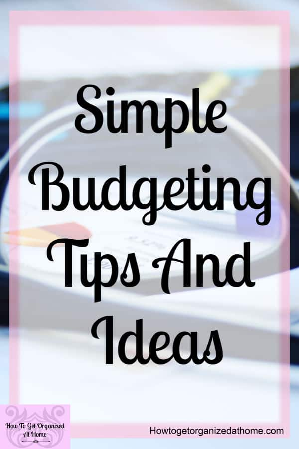 Simple budgeting tips to help you create the best budget for you at this time! Don't get stressed over the details! Learning to budget is a process and not a one time action!