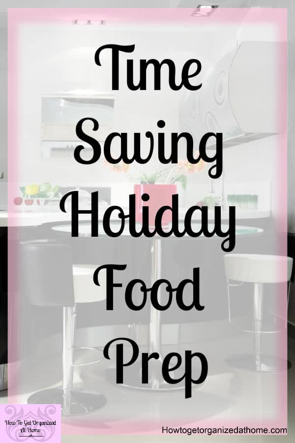 Looking for time-saving tips this holiday season? Learn how making some things ahead can save you time and money, plus allow you to have stress-free meal times!
