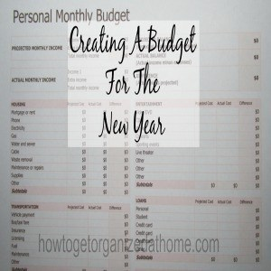 Creating A Budget For The New Year