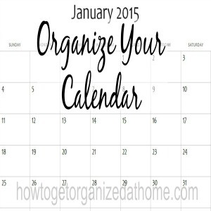 Getting Your Calendar Under Control