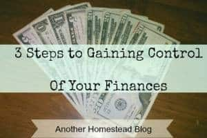 3 steps to gaining control of your finances