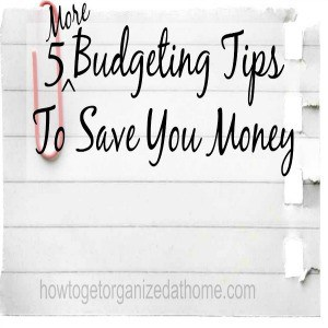 5 More Budgeting Tips To Save You Money