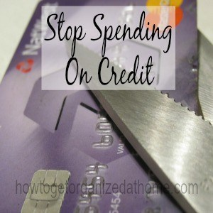 Stop Spending On Credit
