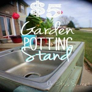 $5 Garden Potting Stand Tutorial