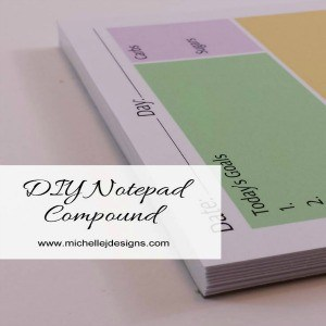 DIY Notepad Padding Compound