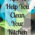 Tips and tricks to clean your kitchen fast! Don't forget any area with these simple ideas to a spotless kitchen!