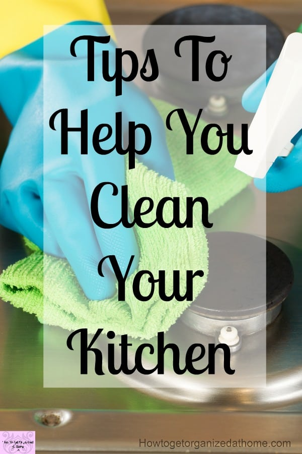 Learn to deep clean your kitchen with these tips and tricks to make your whole kitchen sparkle!