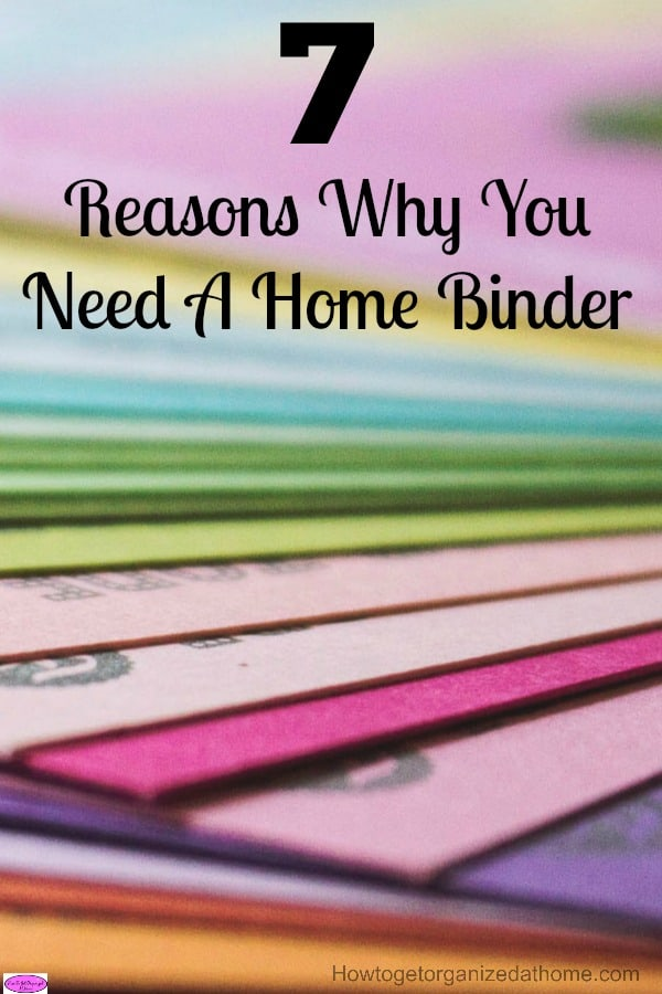 Why you need a home binder is simple! If you are looking to live a more organized life at home and working together as a family unit.