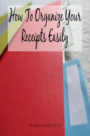 Organize your receipts doesn't have to be difficult. There are ways that yo can organize them so they make sense to you and you understand the process.