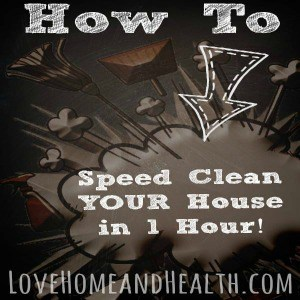 How to Speed Clean Your House in One Hour!
