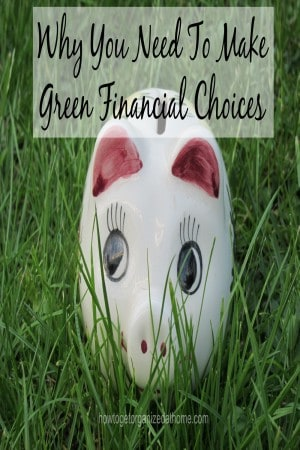 Why You Need To Make Green Financial Choices