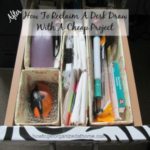 How To Reclaim A Desk Draw With A Cheap Project