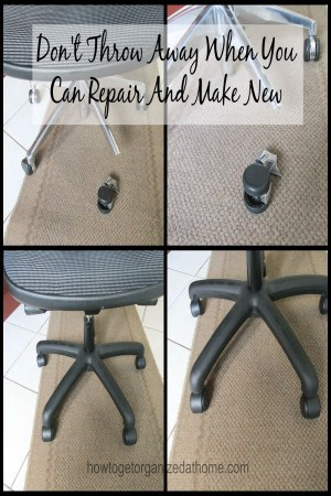 Don't Throw Away When You Can Repair And Make New