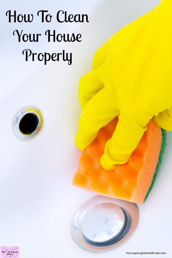 How you clean your home will depend on a number of factors! The most important one is how clean you want your home to be!