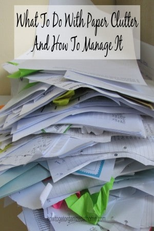 Paper clutter is one of those areas that seem to sneak upon you and suddenly you are being taken over by paper and knowing where to start is hard!