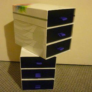 DIY Violet Box Storage Drawers
