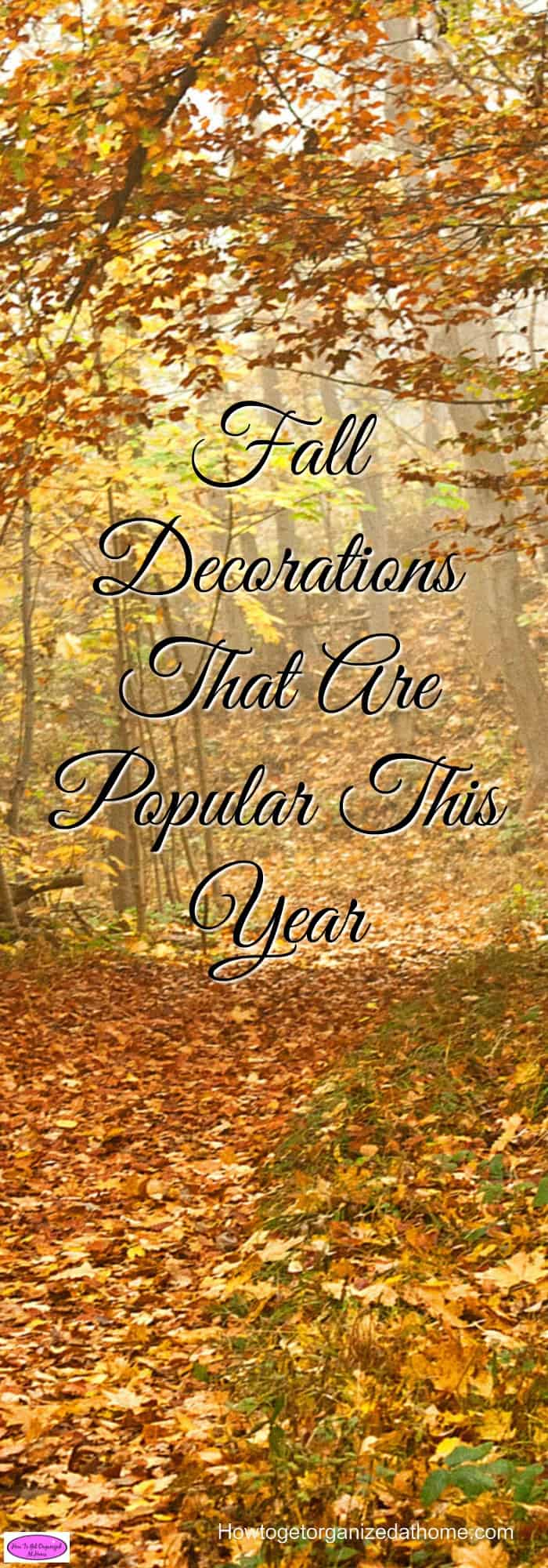 With the changing seasons comes the possibility of changing to fall decorations. If you are looking for inspiration check out this article.