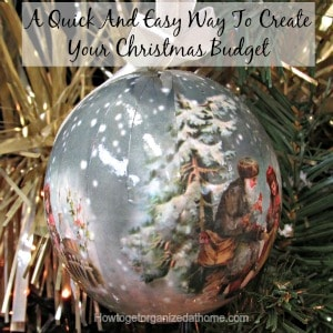 A Quick And Easy Way To Create Your Christmas Budget