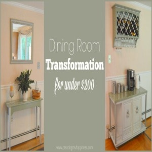 Dining Room Transformation For Under $200