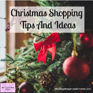 Simple tips and ideas that will help reduce the stress when Christmas shopping!