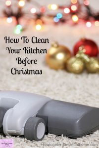 Make your kitchen sparkle and shine this holiday season! Grab the printable and get your kitchen clean!
