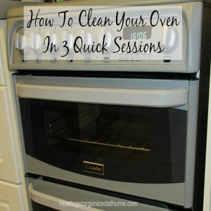If you struggle to clean your oven in one go, then don't! Do what I do and break this down into 3 separate cleaning sessions. Click the link to read!