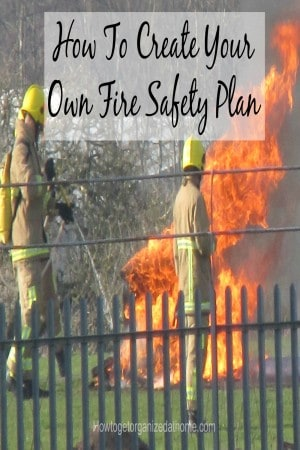 Creating your own fire safety plan is important, it can identify any areas that you might need to address to ensure your family is safe in case of a fire.