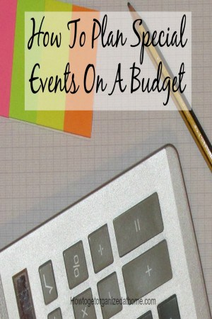 How To Plan Special Events On A Budget