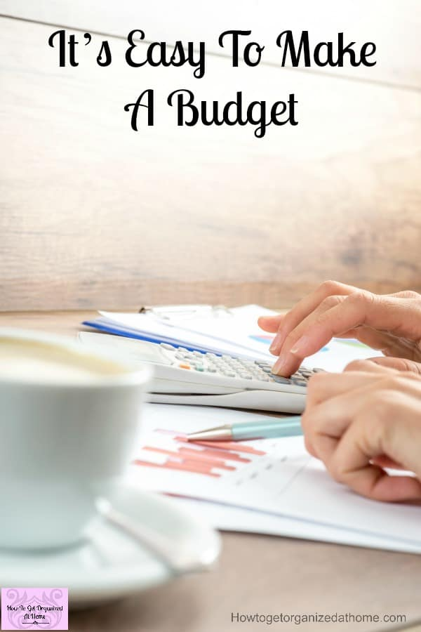 Make a budget today, it's not difficult and it can save you money too!
