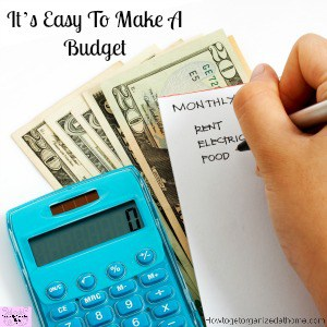 It's Easy To Make A Budget