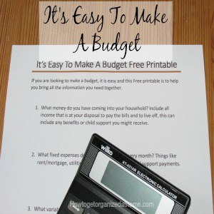 It's easy to make a budget, the hardest part is sticking to the budget! If you need help to make a budget check out this article! Free Printable too!