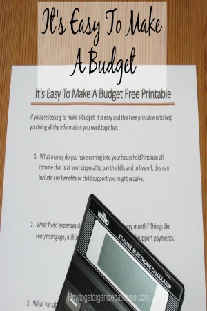 It's easy to make a budget, the hardest part is sticking to the budget! If you need help to make a budget check out this article. FREE Printable too!