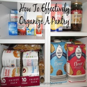 How to organize a pantry effectively isn't difficult once you have a system that works, this can take time to implement. Click the link to continue reading.