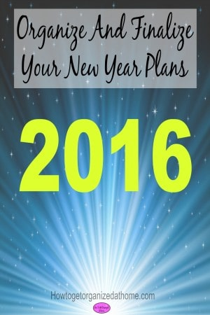 Organizing and finalizing your New Year Plans ready for next week will reduce your stress and give you time to plan appropriately. Click the link to read!