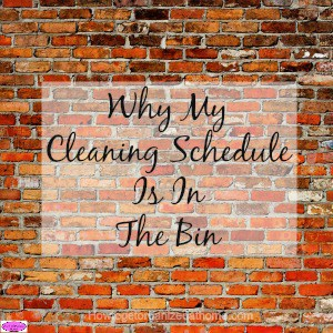 The reason why my cleaning schedule is in the bin is simple, it had stopped working! Click the link to see why and get a FREE printable.