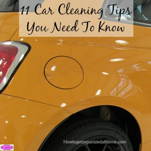 Car cleaning tips from a professional car cleaner! Great tips for getting your car really clean! You might be surprised by number 1!