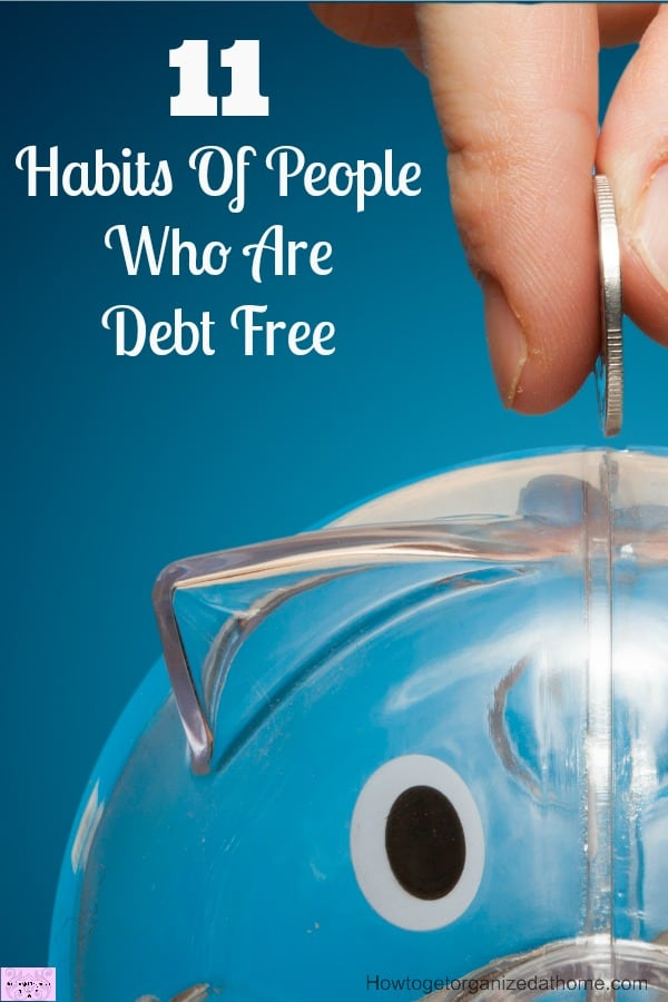 Copying habits of debt free people will help you to understand how to live a debt free life!