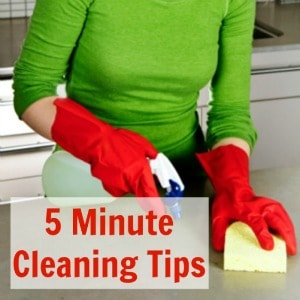 5 Minute Cleaning Tips
