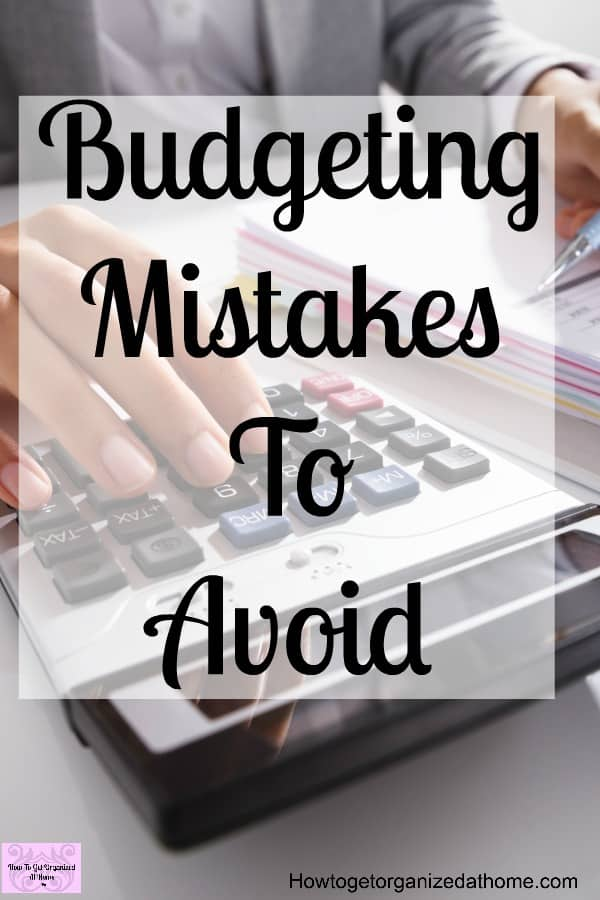 Tips to avoid when budgeting so you don't make some common mistakes when budgeting!